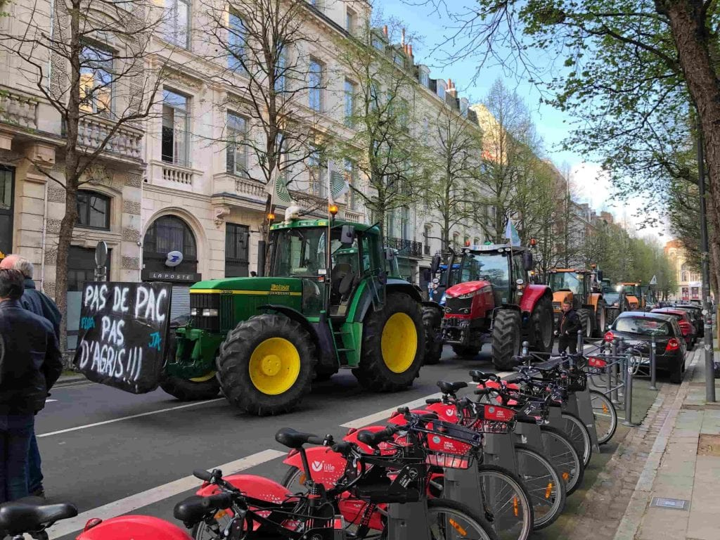 manifestation 4 avril 2021 Lille tracteurs PAC © LD