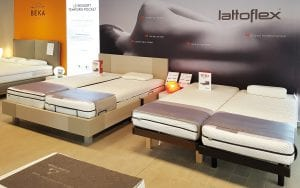 showroom avec literie Lattoflex